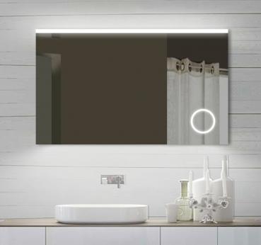 Zrcadlo SPM 100x60 s LED osvětlením a kosmetickou lupou